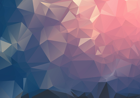 ダークライト幾何学的な三角低ポリ折り紙スタイルのグラデーションイラストグラフィックの背景をうろつきました。ビジネス向けのベクター ポリゴンデザイン。