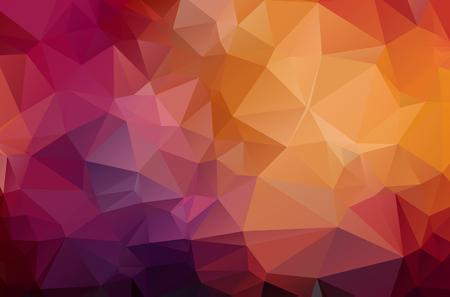 Rouge foncé géométrique froissé triangulaire low poly style origami dégradé illustration graphique arrière-plan. Conception polygonale vectorielle pour votre entreprise.