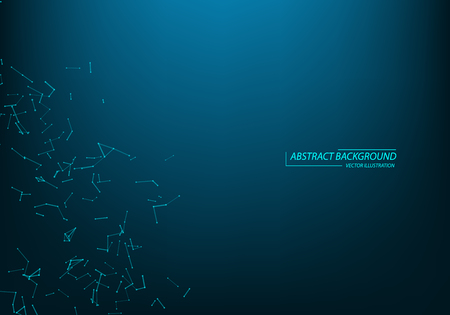 Abstract technology futuristic background. Big data visualization. Block chain network concept.