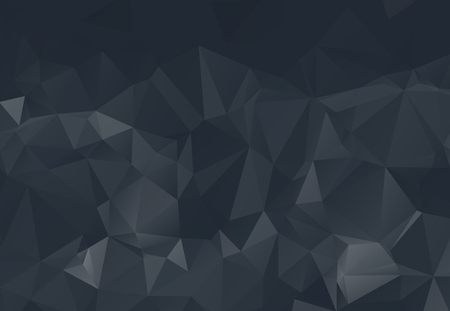 Abstract black polygon surface pattern background texture background vector illustration.