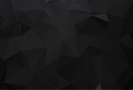 Black carbon abstract mosaic polygonal background Illustration