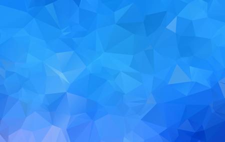 Illustrazione poligonale blu, composta da triangoli. Sfondo geometrico in stile Origami con sfumatura. Design triangolare per il tuo business.