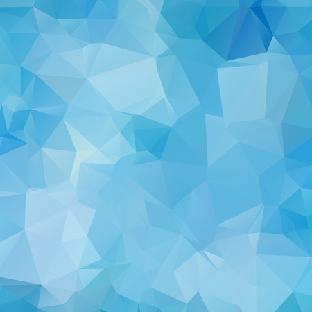 Blue abstract geometric background, vector from polygons, triangle, vector illustration, vector pattern, triangular template