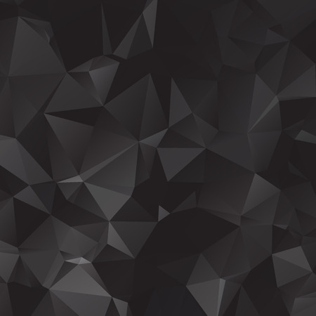 Black polygonal illustration, which consist of triangles. Geometric background in Origami style with gradient. Triangular design for your business.