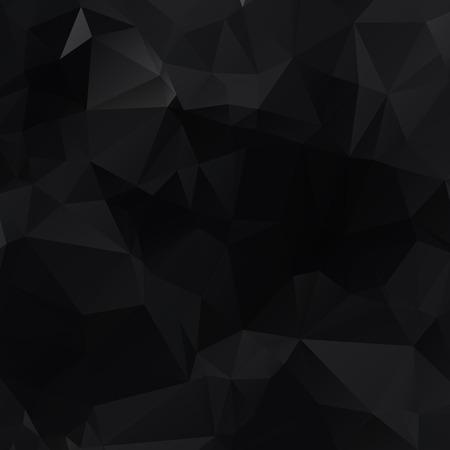 Czarna wielokątna ilustracja, która składa się z trójkątów. Geometryczne tło w stylu origami z gradientem. Trójkątny projekt dla Twojej firmy. Ilustracje wektorowe