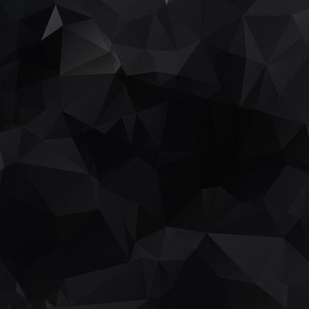 Illustrazione poligonale nera, composta da triangoli. Sfondo geometrico in stile Origami con sfumatura. Design triangolare per il tuo business. Vettoriali