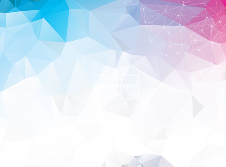 Abstract triangular blue background with polygonal abstract shapes Vector Illustration