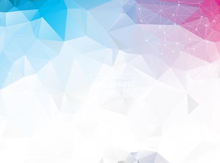 Astratto sfondo blu triangolare con forme astratte poligonali Vettoriali