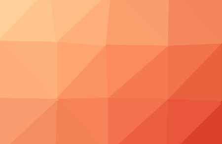 Abstract geometric background. Orange polygonal vector