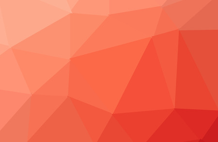 Orange polygonal illustration, which consist of triangles. Triangular design for your business. Creative geometric background in Origami style with gradient