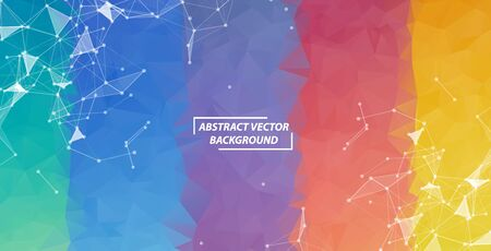 Geometric Colorful Polygonal background molecule and communication. Connected lines with dots. Minimalism background. Concept of the science, chemistry, biology, medicine, technology. Illustration