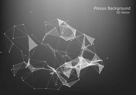 Abstract Internet connection and technology graphic design. polygonal space low poly dark background with connecting dots and lines.  向量圖像