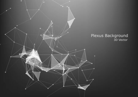 Abstract Internet connection and technology graphic design. polygonal space low poly dark background with connecting dots and lines.