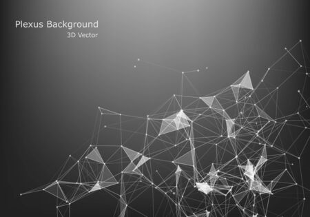 Abstract Internet connection and technology graphic design.  background with triangular cells for design with polygons on a dark background.