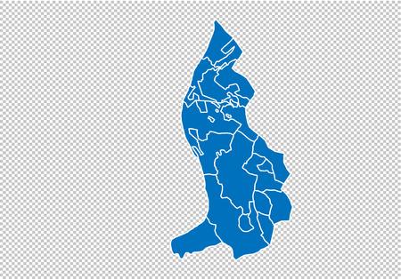 liechtenstein map - High detailed blue map with countiesregionsstates of liechtenstein. nepal map isolated on transparent background.