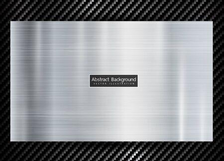 abstract metallic frame carbon texture on metal texture backgroun. Ilustração