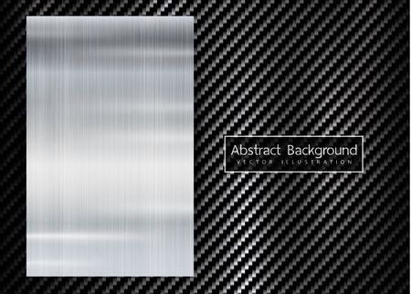 abstract metallic frame on carbon texture pattern tech sports innovation concept background.