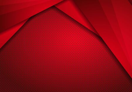 Red Modern Technology Design Background with dots Texture. Metallic background polished steel texture.