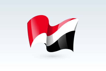 Sealand Principality waving flag vector icon, national symbol. Flag of Sealand Principality, fluttered in the wind - vector illustration isolated on white background.  イラスト・ベクター素材
