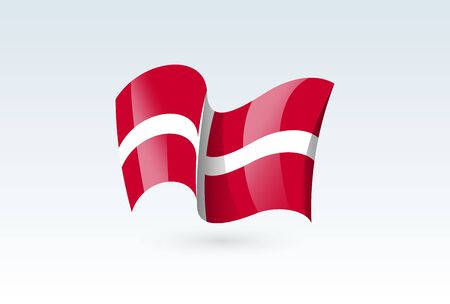 Sovereign Military waving flag vector icon, national symbol. Flag of Sovereign Military, fluttered in the wind - vector illustration isolated on white background.  イラスト・ベクター素材