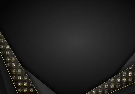 Abstract dark metallic overlap background. Luxury Abstract 3D background with a combination of luminous polygons in 3D style. Graphic design glitters dots element decoration.