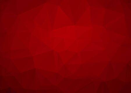 Abstrakter Mosaik-roter polygonaler geometrischer Dreieck-Hintergrund, niedrige Polyart. Business-Design-Vorlagen moderner Dreieck-Hintergrund. Vektorgrafik