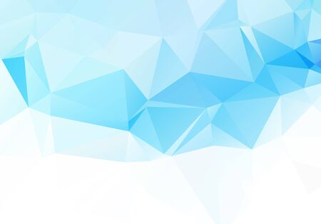 Abstract mosaic Blue White Polygonal Geometric Triangle Background, Low Poly Style. Business Design Templates modern Triangle Background.