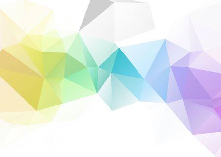 Mosaico abstracto Fondo de triángulo geométrico poligonal colorido y blanco, estilo Low Poly. Fondo de triángulo moderno de plantillas de diseño de negocios.