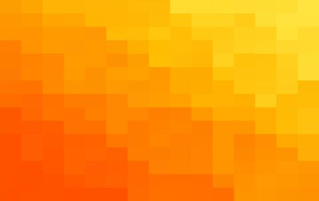 Abstract Orange geometric Background, Creative Design Templates. Pixel art Grid Mosaic, 8 bit vector background.