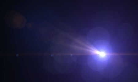 Blank light leak Real Lens Flare over Black Background. Easy to add as Overlay or Screen Filter. 3D Rendering.