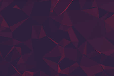 Abstract textured Red polygonal background. low poly geometric consisting of triangles of different sizes and colors. use in design cover, presentation, business card or website.