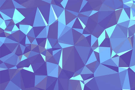 Abstract textured Blue polygonal background. low poly geometric consisting of triangles of different sizes and colors. use in design cover, presentation, business card or website.