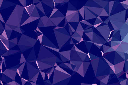 Abstract textured dark Blue polygonal background. low poly geometric consisting of triangles of different sizes and colors. use in design cover, presentation, business card or website.