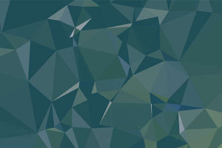 Abstract textured Dark Green polygonal background. low poly geometric consisting of triangles of different sizes and colors. use in design cover, presentation, business card or website.