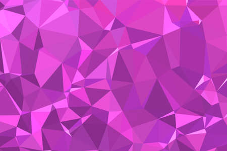 Abstract textured Pink polygonal background. low poly geometric consisting of triangles of different sizes and colors. use in design cover, presentation, business card or website.