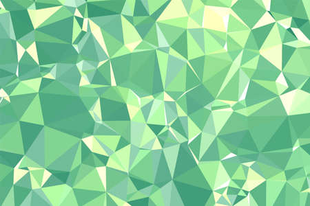 Abstract textured Green polygonal background. low poly geometric consisting of triangles of different sizes and colors. use in design cover, presentation, business card or website.