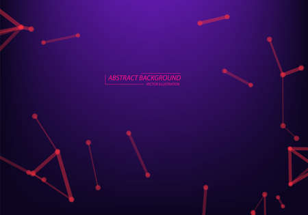 Abstract network connection background .Neon Light background. 矢量图像