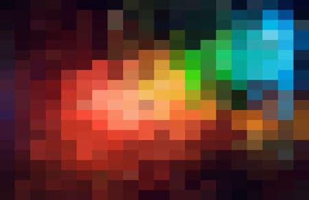 Abstract dark geometric Background, Creative Design Templates. Pixel art Grid Mosaic, 8 bit vector background.