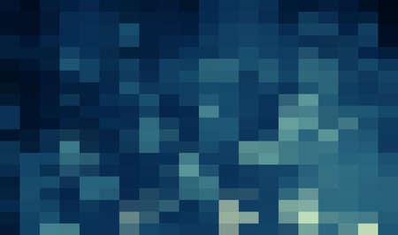 Abstract Blue geometric Background, Creative Design Templates. Pixel art Grid Mosaic, 8 bit vector background. 일러스트