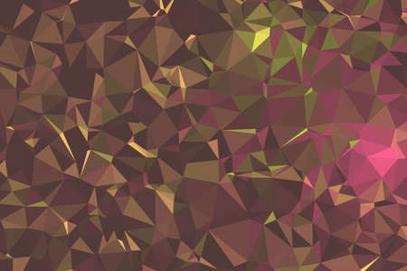 Abstract Dark Brown Polygonal Space Background. Geometric Polygonal background molecule and communication. Concept of science, chemistry, biology, medicine, technology. 矢量图像
