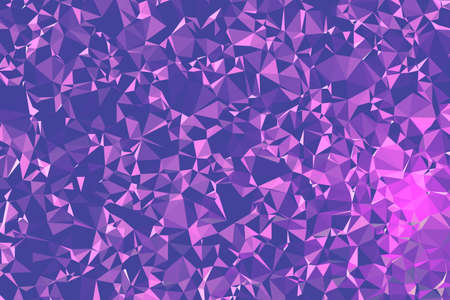 Abstract Pink Polygonal Space Background. Geometric Polygonal background molecule and communication. Concept of science, chemistry, biology, medicine, technology.