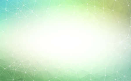 Abstract Dark Green Polygonal Space Background with Connecting Dots and Lines.  Connection structure and science background. Futuristic HUD design.