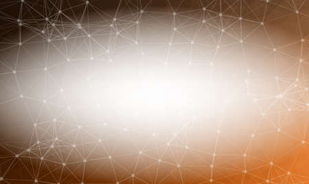 Abstract Dark Brown Polygonal Space Background with Connecting Dots and Lines.  Connection structure and science background. Futuristic HUD design. Illustration