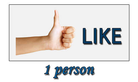 1 person: a thumb with the word like 1 person