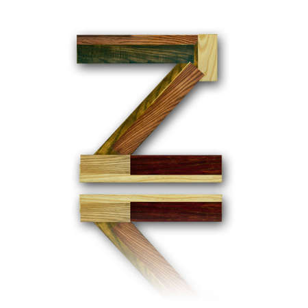 Wood alphabet symbol - Z Stock Photo - 11017224
