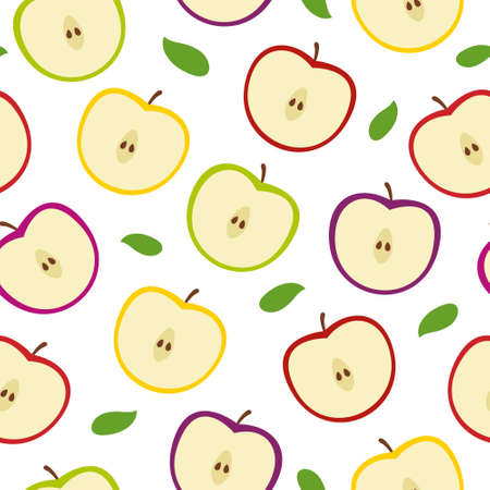 Colorful Apple Seamless Pattern