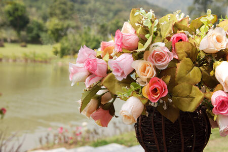 Artificial Rose in various colors Stock Photo - 25444752