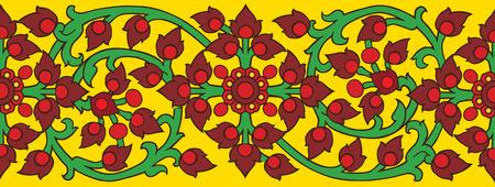 adorn: Kankhot florituras l�nea arte adornan el templo de Tailandia.