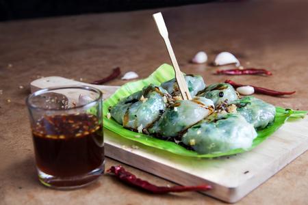 odorum: Allium tuberosum. Garlic chives with soy source. Dim sum is chinese cuisine. Dim sum.