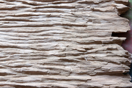 lumber industry: Rough natural wood. Corrosion show sub surface over time.